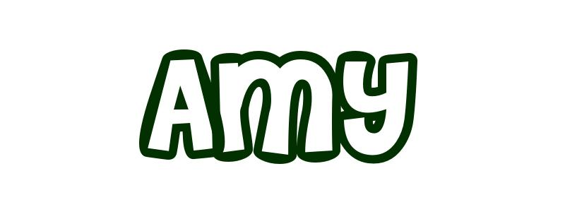 Coloring Page First Name Amy