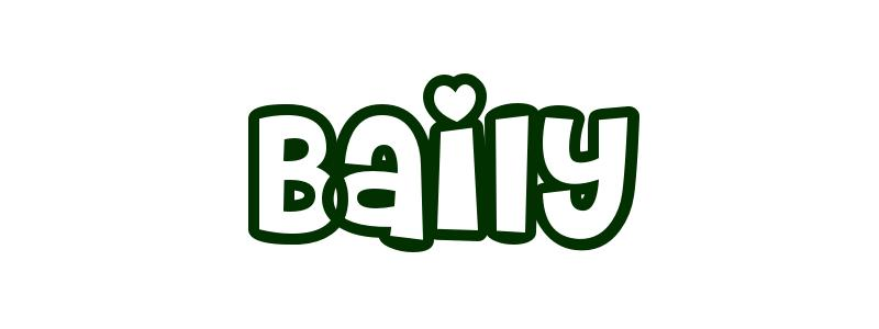 Coloring-Page-First-Name Baily