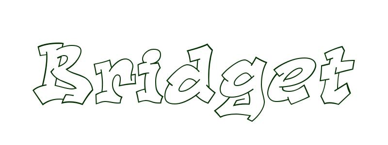 Coloring-Page-First-Name Bridget