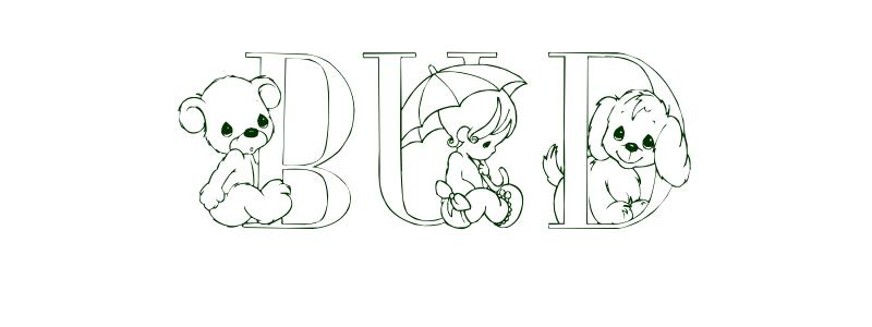 Coloring-Page-First-Name Bud
