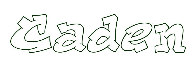 Coloring-Page-First-Name Caden