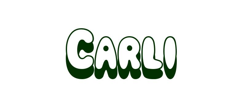 coloring page first name carli