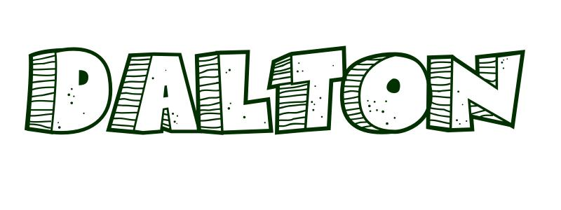 Coloring Page First Name Dalton