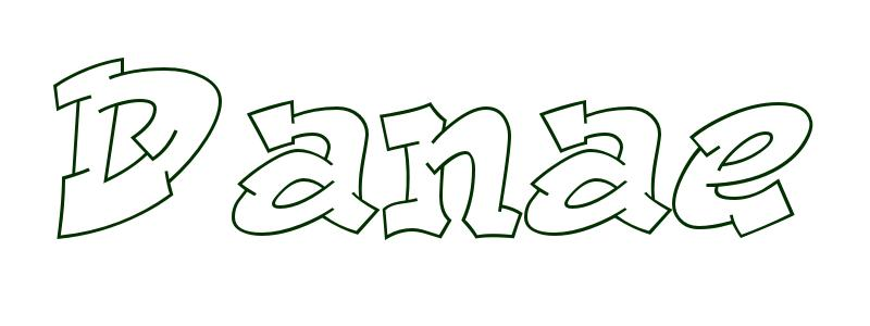 Coloring-Page-First-Name Danae