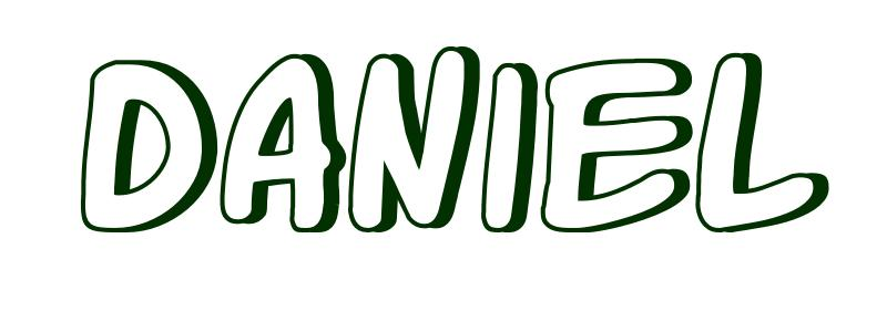 Coloring-Page-First-Name Daniel