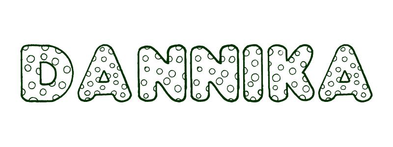Coloring Page First Name Dannika