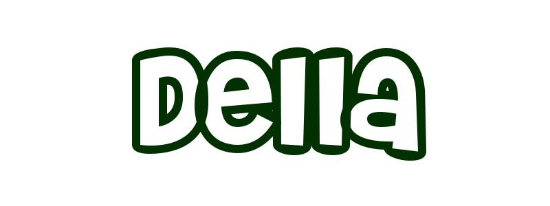 Coloring-Page-First-Name Della
