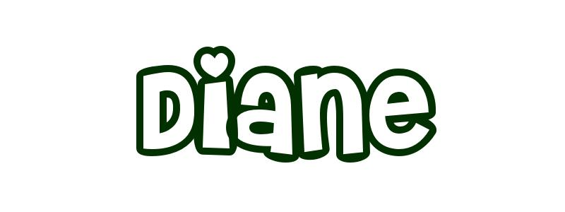 Coloring-Page-First-Name Diane