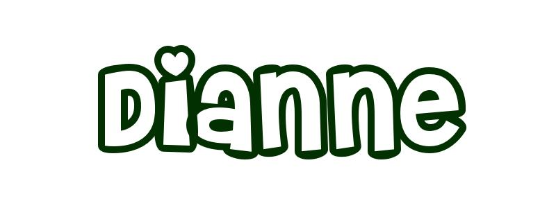 Coloring-Page-First-Name Dianne
