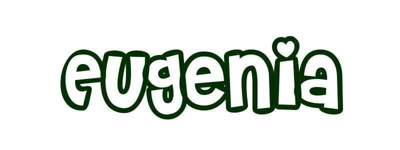 Coloring Page First Name Eugenia