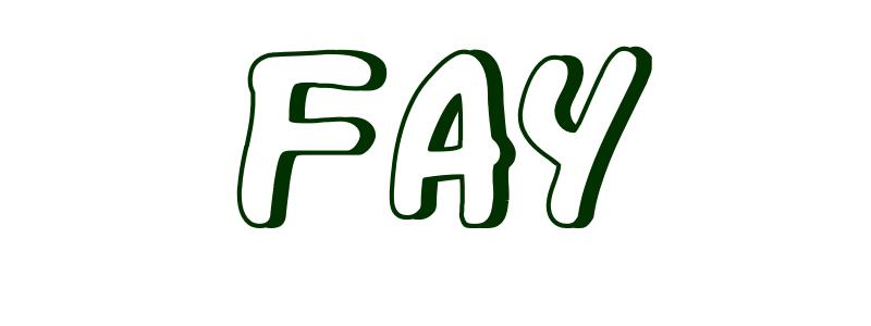 Coloring Page First Name Fay