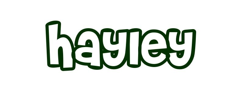 Coloring-Page-First-Name Hayley