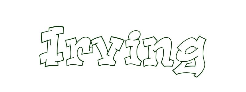 Coloring-Page-First-Name Irving