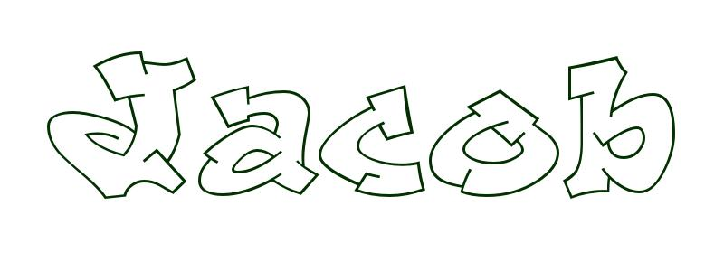 coloring page first name jacob