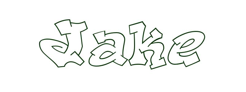 coloring page first name jake - Jake Coloring Pages