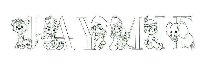 Coloring-Page-First-Name Jaymie