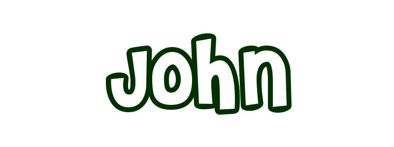 Coloring-Page-First-Name John