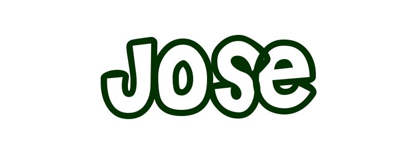 Jose in bubble letters
