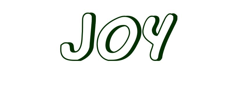 Coloring-Page-First-Name Joy