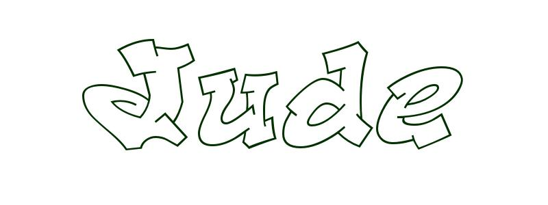 Coloring page first name jude