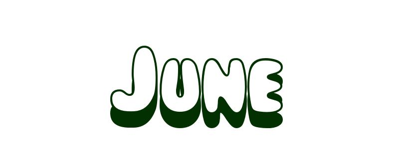 Coloring Page First Name June