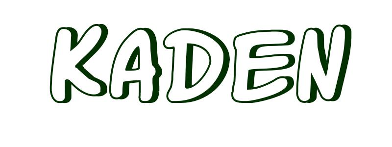 Coloring Page First Name Kaden