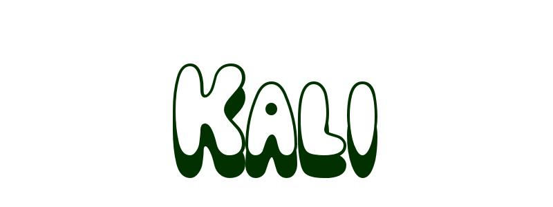 Coloring Page First Name Kali