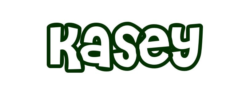 Coloring-Page-First-Name Kasey