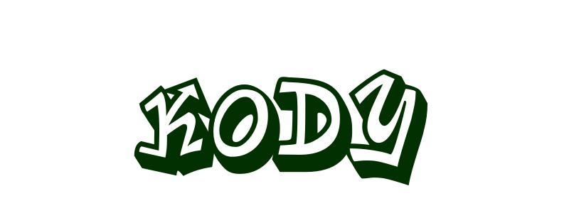 Coloring-Page-First-Name Kody