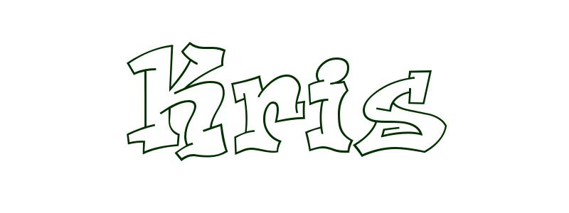 Coloring Page First Name Kris