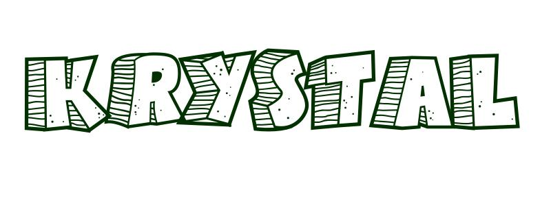 Coloring Page First Name Krystal