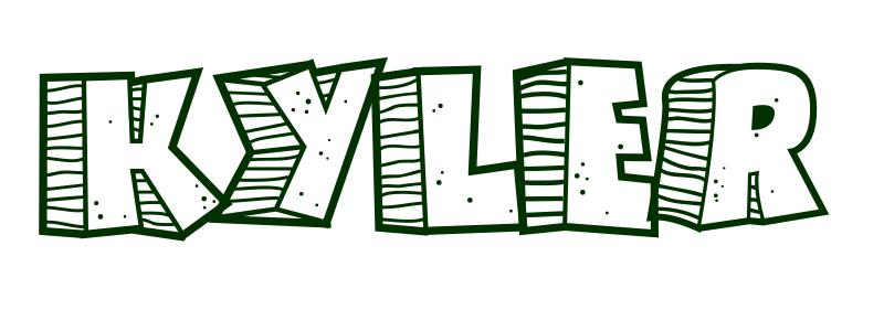 Coloring Page First Name Kyler