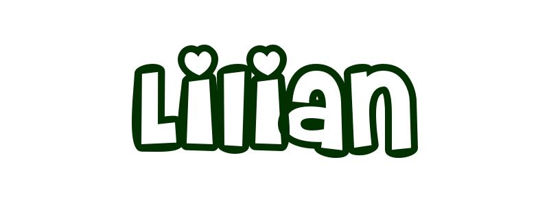 Coloring-Page-First-Name Lilian