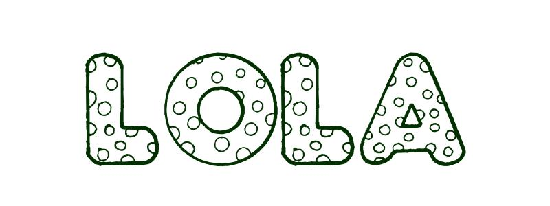 Coloring Page First Name Lola