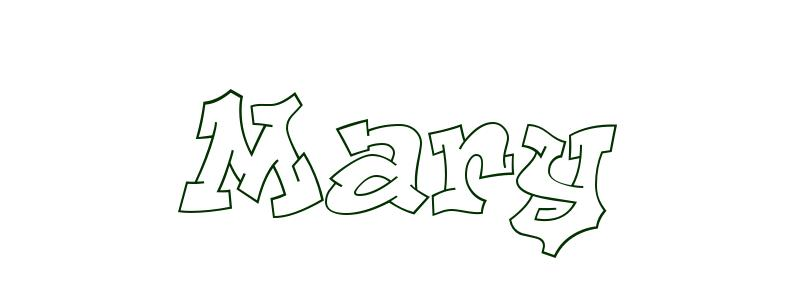 coloring page first name mary