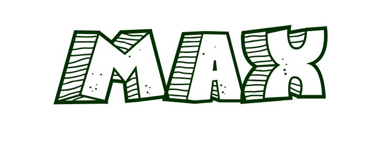 coloring page first name max