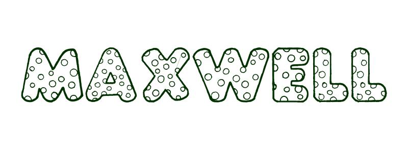 Coloring Page First Name Maxwell