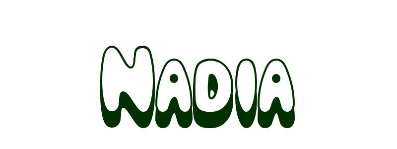 Coloring-Page-First-Name Nadia