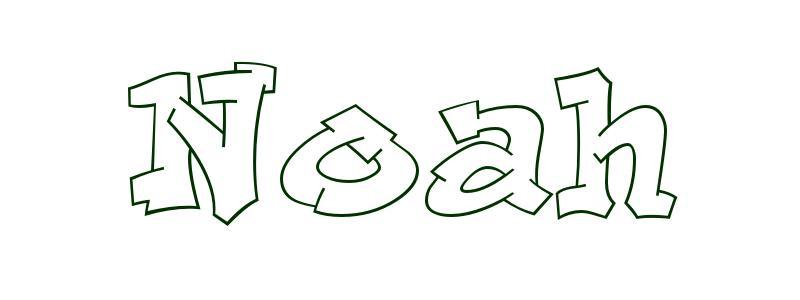 Coloring Page First Name Noah