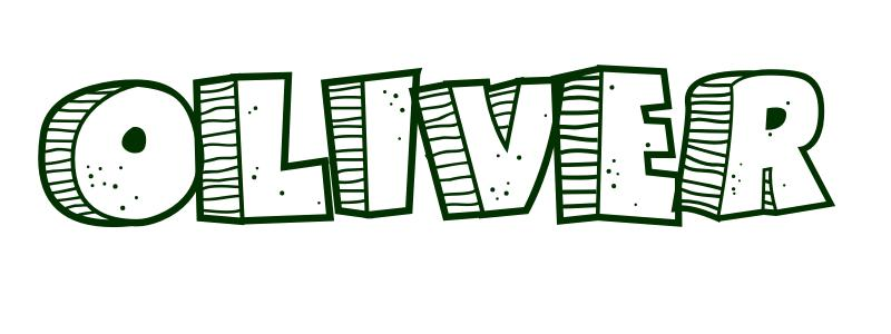 Coloring Page First Name Oliver