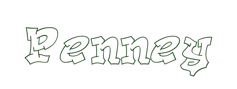 Coloring-Page-First-Name Penney