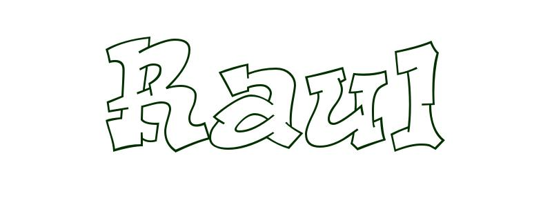 Coloring Page First Name Raul