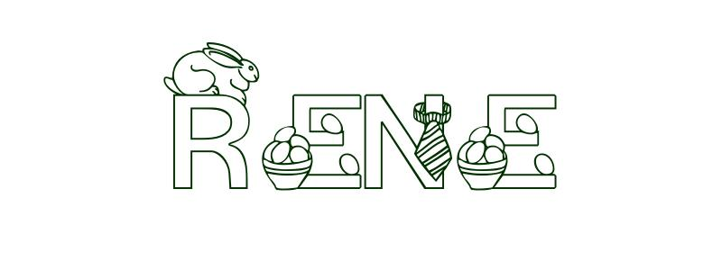 Coloring-Page-First-Name Rene