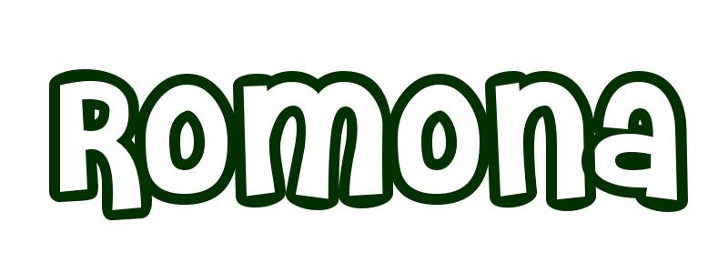 Coloring-Page-First-Name Romona