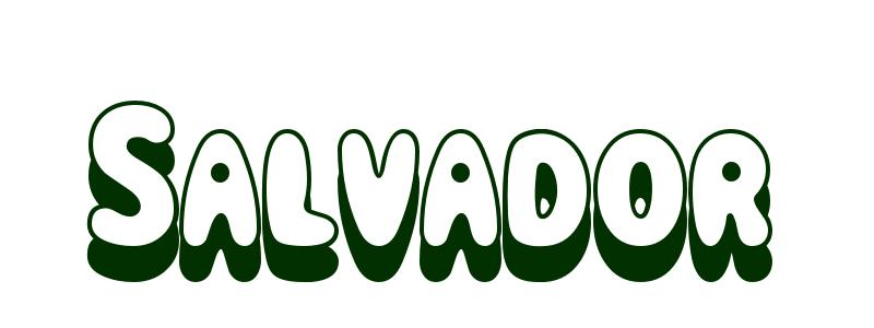 Coloring-Page-First-Name Salvador