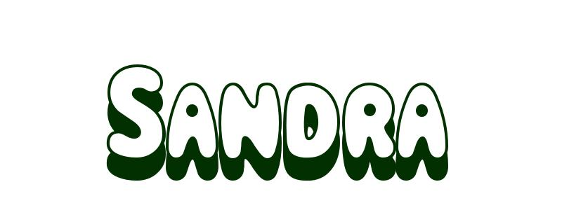 sandra name coloring pages - photo#2