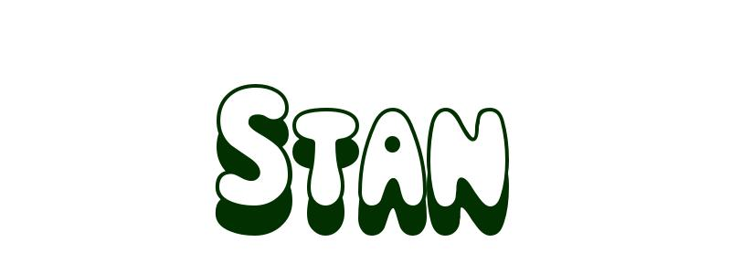 Coloring-Page-First-Name Stan