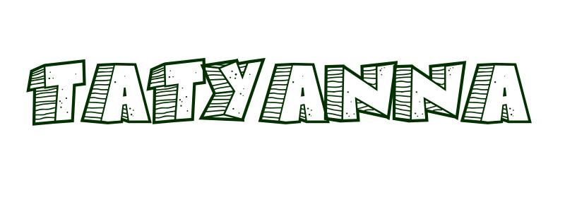Coloring-Page-First-Name Tatyanna