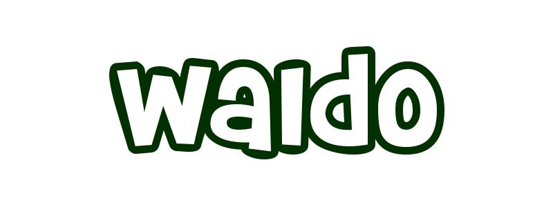 Coloring-Page-First-Name Waldo