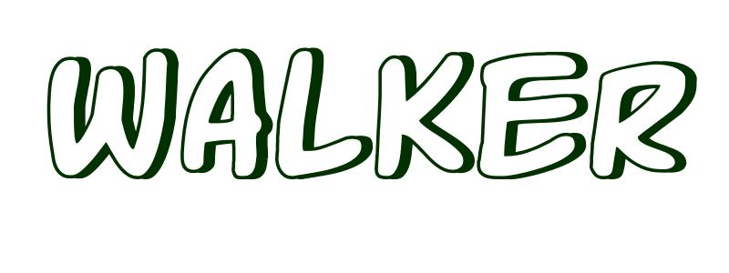Coloring page first name walker for Name coloring page generator